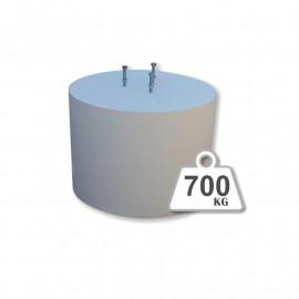 Peana de hormigón - 700 Kg.