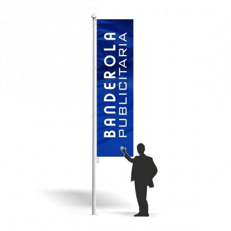 Mástil gama económica Inclinado de pared con bandera 100 x 150 cm.