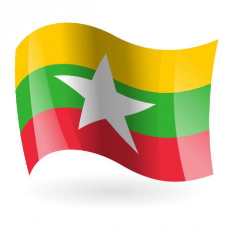Bandera de Birmania ( República de la Unión de Myammar )