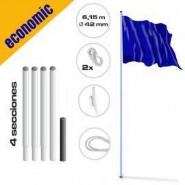 Mástil gama económica de acero 5.75 m de altura