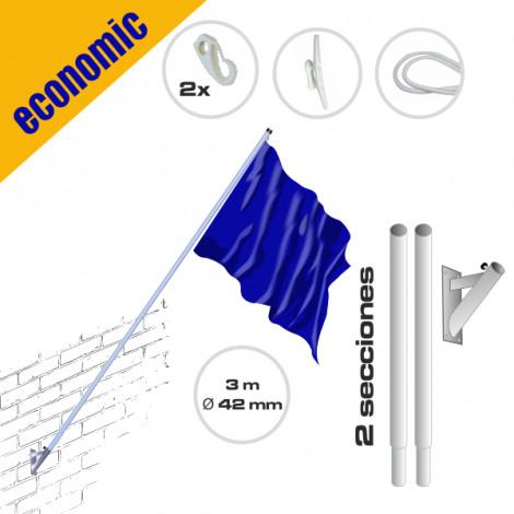 Mástil gama económica Inclinado de pared