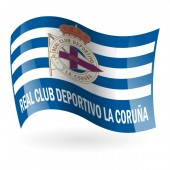 Bandera del Real Club Deportivo de La Coruña mod. 1