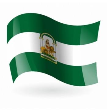 Bandera de Andalucía c/e - Raso