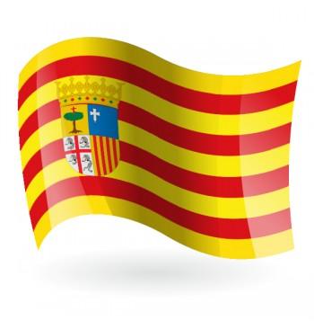 Bandera de Aragón - Raso