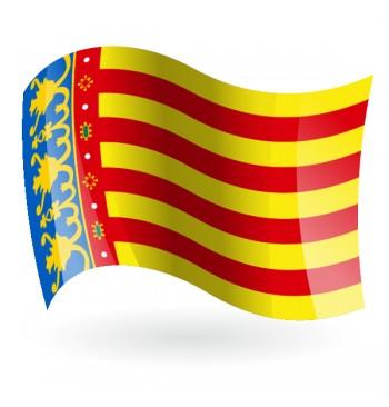 Bandera de Comunidad Valenciana (Comunitat Valenciana) - Raso