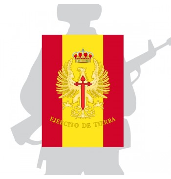 Bandera de Percha / mochila del Ejército de tierra