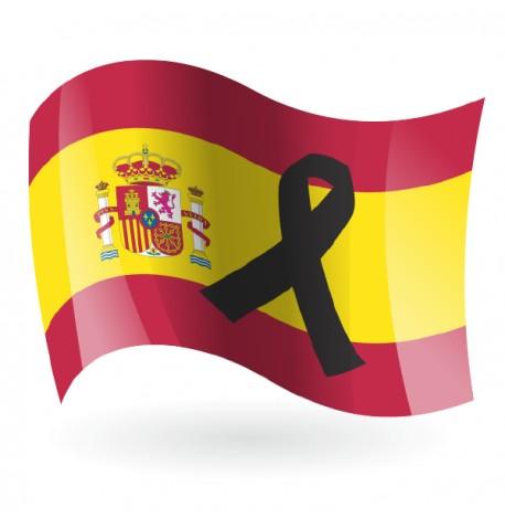 Bandera de España C/E con crespón negro
