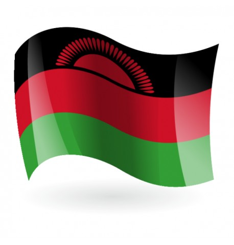 Bandera de la República de Malaui ( Malawi )