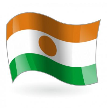 Bandera de la República del Níger