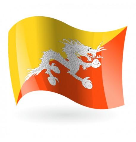 Bandera del Reino de Bután