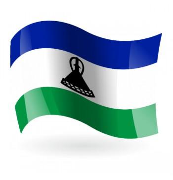 Bandera del Reino de Lesoto