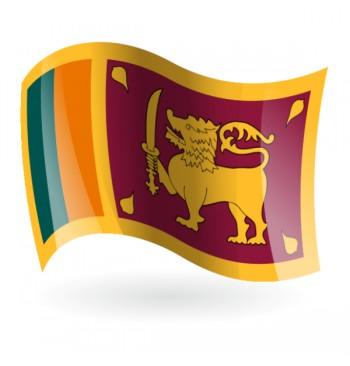 Bandera de Sri Lanka ( República Democrática Socialista )
