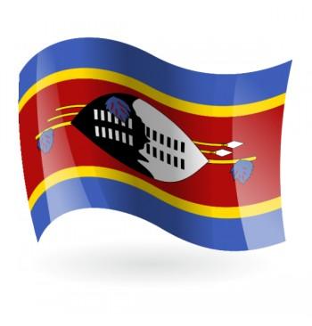 Bandera del Reino de Suazilandia ( Esuatini )