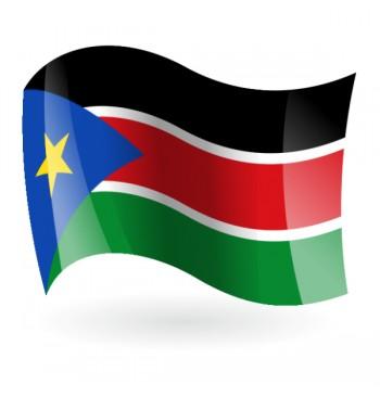 Bandera de la República de Sudán del Sur