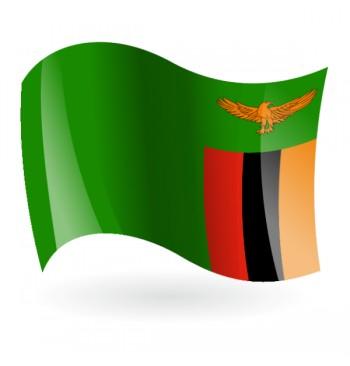 Bandera de la República de Zambia