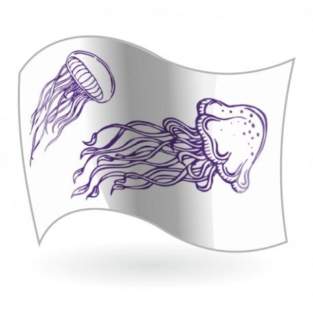 Bandera Peligro Medusas Mod. 2