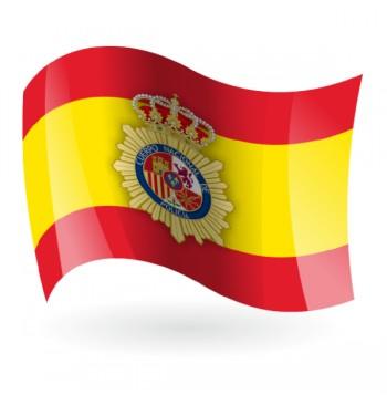 Bandera de España Policía Nacional