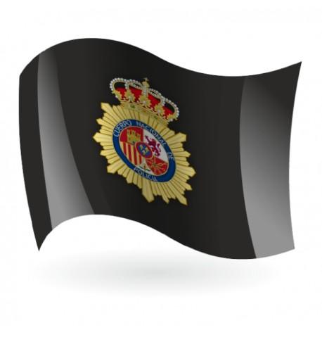 Bandera de la Policía Nacional fondo negro