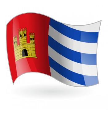 Bandera de Vall de Almonacid ( la Vall d'Almonesir )