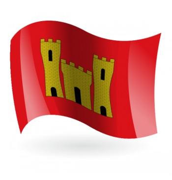 Bandera de Villanueva de Alcolea ( Vilanova d'Alcolea )