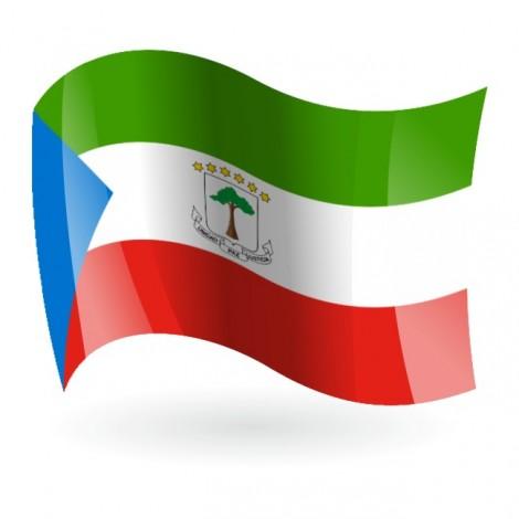Bandera de de República de Guinea Ecuatorial