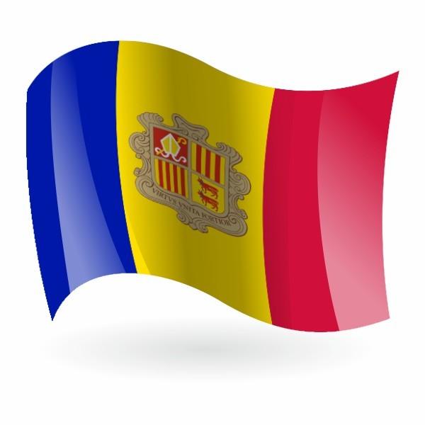 Bandera de Andorra - Banderalia.es