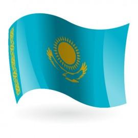 Bandera de la República de Kazajistán