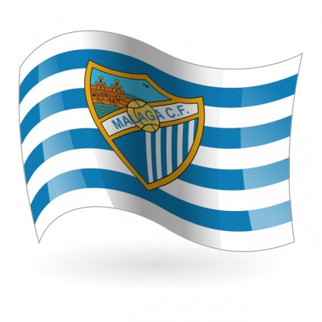 Bandera del Málaga Club de Fútbol mod. 1