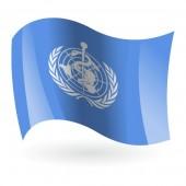 Bandera de la OMS ( Organización Mundial de la Salud )