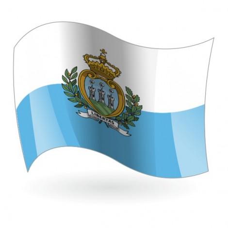 Bandera de San Marino ( Serenísima República )
