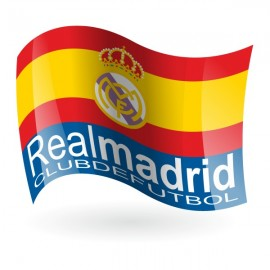 Bandera del Real Madrid Club de Fútbol mod. 2