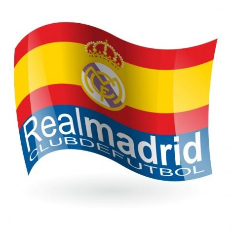 Bandera del Real Madrid Club de Fútbol mod. 2