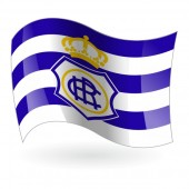 Bandera del Real Club Recreativo de Huelva mod. 1