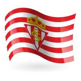 Bandera del Real Sporting de Gijón mod. 1