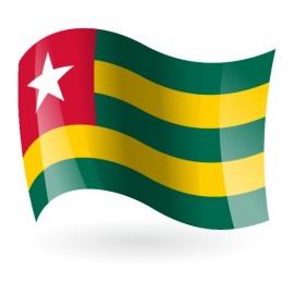 Bandera de Togo ( República Togolesa )