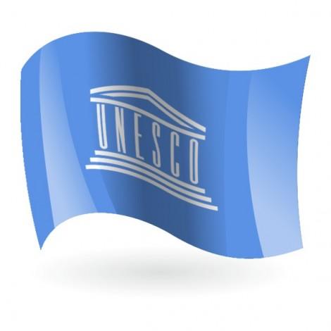 Bandera de la UNESCO ( Organización de las Naciones Unidas para la Educación, la Ciencia y la Cultura )