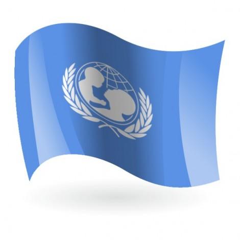 Bandera de Unicef ( Fondo de Naciones Unidas para la Infancia )