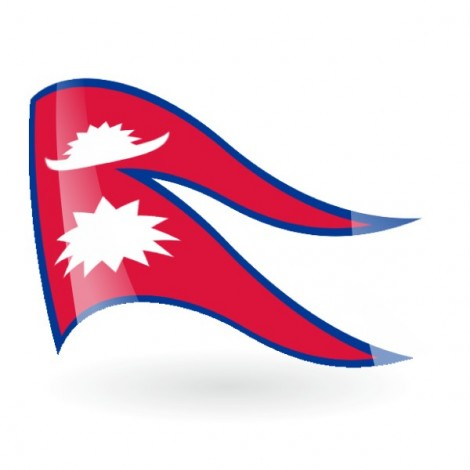 Bandera de Nepal ( República Federal Democrática de )