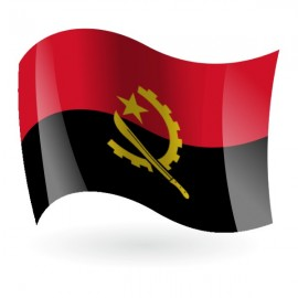 Bandera de la República de Angola