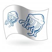 Bandera Peligro Medusas