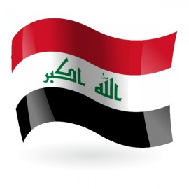 Bandera de la República de Irak ( Iraq )