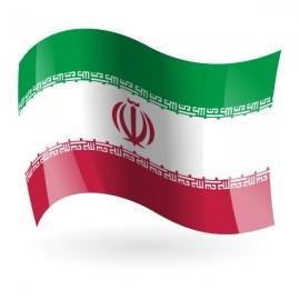 Bandera de la República Islámica de Irán