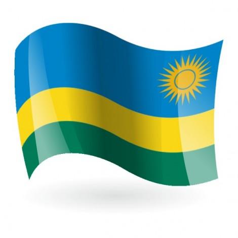 Bandera de la República de Ruanda
