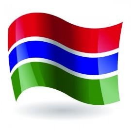 Bandera de la República del Gambia