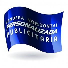Bandera raso personalizada / publicitaria 100 x 150 cm.